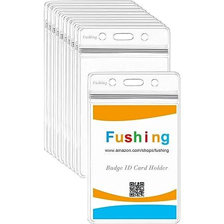 Fushing 10 pcs imperméable à l'eau des porte-badges en plastique badges