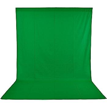 Neewer Toile de Fond de 6x9 pieds/1,8x2,8 mètres Pliable de 100% Mousseline pour Photographie, Vidéo et Télévision - Vert
