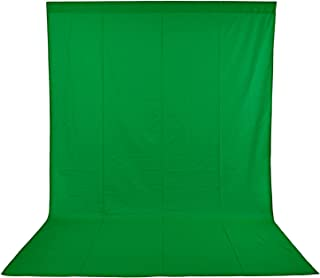 Neewer Photo Studio 100% Pure Muslin Collapsible Backdrop Background for Photography,Video and televison 3 x 6M/ 9.8 x19.7ft (GREEN)