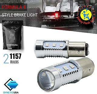 1157 Red LED Stop Brake Flash Strobe Rear Alert Safety Warning 12-LED Light Bulbs