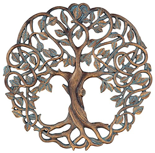 Old River Outdoors Tree of Life Wall Plaque 11 5/8 Inches Decorative Celtic Garden Art Sculpture