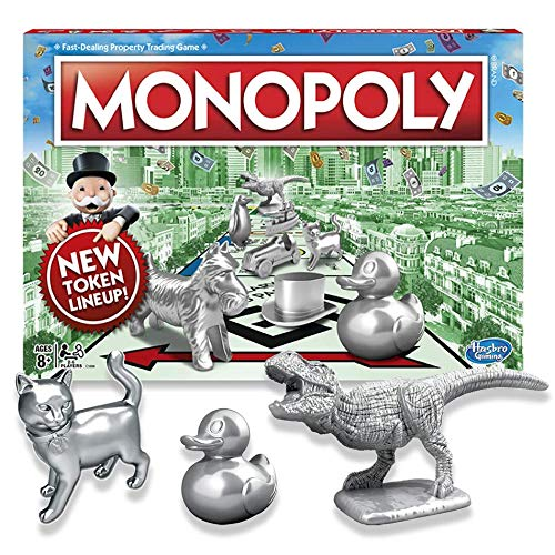 Classic Monopoly Now with Cat, Duck, & Dinosaur