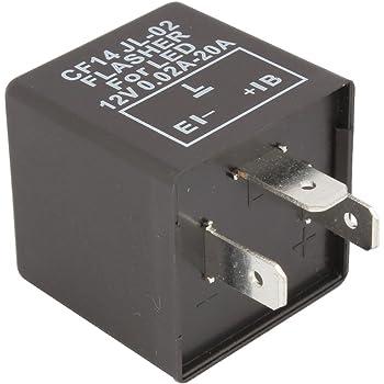 Porfeet Blitzrelais Elektronisches CF14-KTJL LED-Blinkrelais F/ür Motorrad-Blinker-Blinker