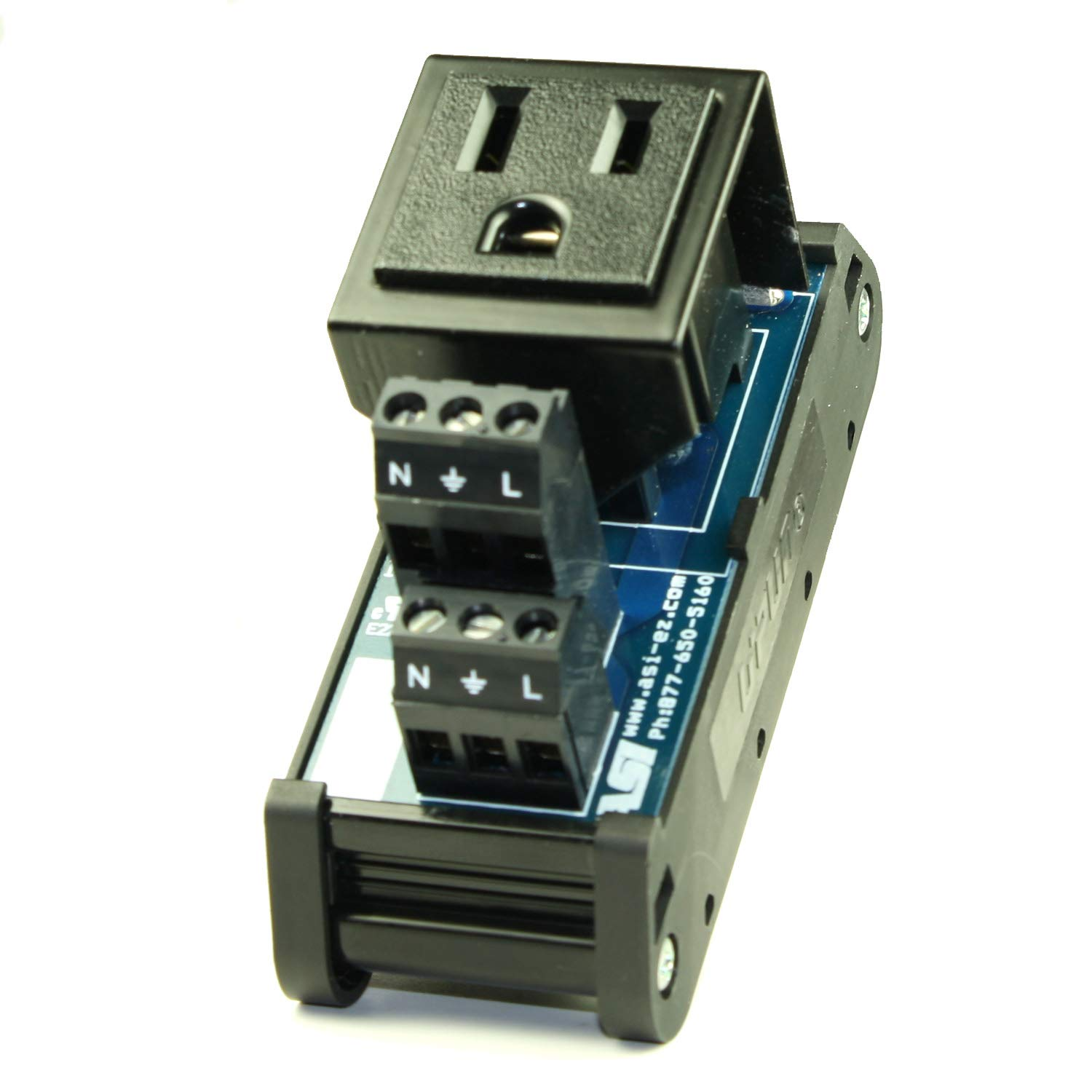 ASI 10000 26 to 12 AWG IMRC10 DIN Rail Mount Interface Module 10 Position Ribbon Cable to Terminal Blocks Flat Ribbon Cable to Wire Transition 1.8 Length
