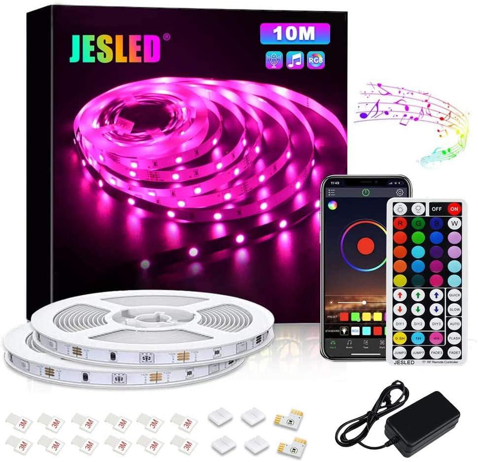 JESLED sold safety out Bluetooth LED Light Strip Stri Color 32.8ft Changing