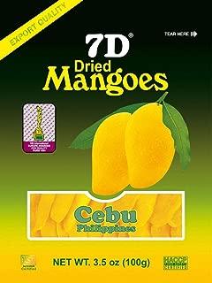 7D Philippine Dried Mangoes Premium Quality Cebu Mango Guaranteed Authentic - Pack of 5 x 100g (500G)