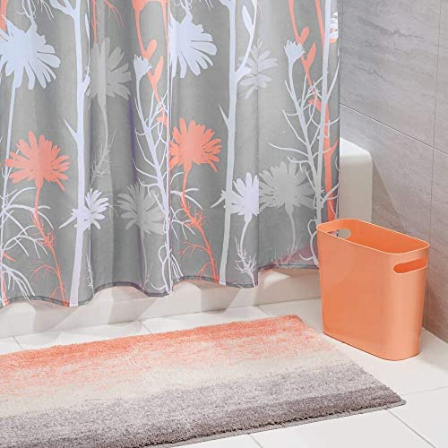 Coral Bathroom Ideas: Bathroom Accessory Sets With Matching Shower Curtain