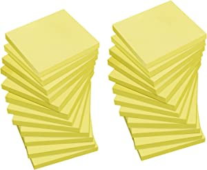 Yellow Sticky Notes, 3x3 inch, 24 Pack, Self-Sticky Note Pads, for Office, School, and Home, 72 Sheets/Pad