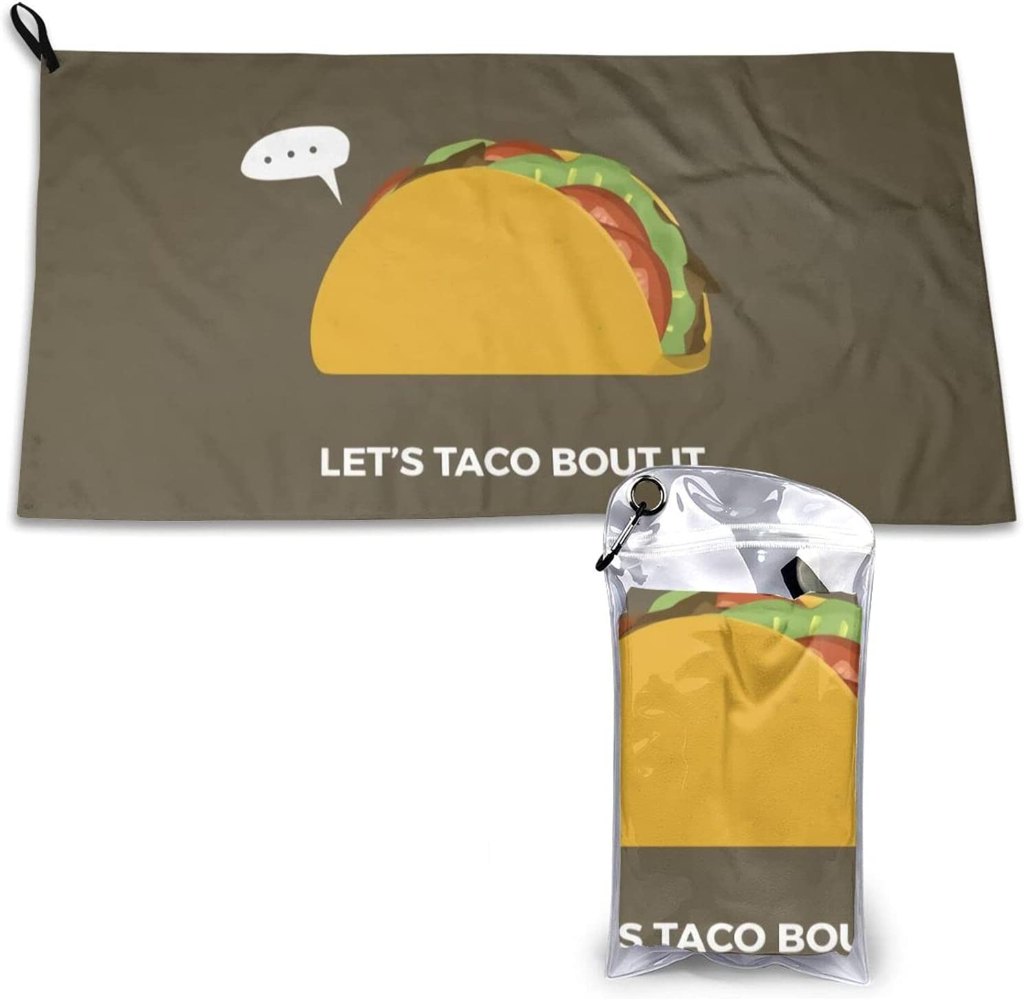 DO You Wanna Taco Bout IT? Baltimore Mall Dry Towel Quick Beach Av Max 66% OFF Microfiber