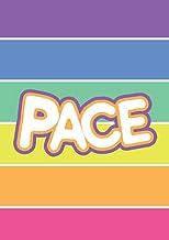 Pace: Quadernone quadretti 1 cm per elementari con margine, A4, 100 pagine, Rigatura 10, Arcobaleno, Ecosostenibile (Itali...