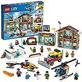 LEGO-City La station de ski Enfant 6 Ans et Plus, Jeu de Construction 806 Pièces 60203