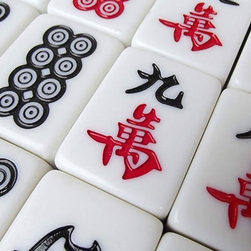 descuento de ventas en línea Hexiansheng Mahjong Portátil ; Mahjong De Bambú Bambú Bambú Clásico M Mahjong Del Hogar ; Un Mantel De Fieltro De 80 MM De Mesa De Mahjong, Una Bolsa De Almacenamiento Y 2 Dados De Color ; Múltiples Tamaños Dispo  mejor reputación