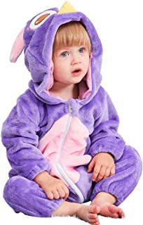 Mono Invierno Para Bebé,Encapuchado Mono Bebé Invierno, Recién Nacido Bebé Traje Cálido Romper Onesies, Cartoon Mouse Animal Pajamas,Soft Casual Fleece Toddler Bodysuit Ropa Outwear, Para Unisex