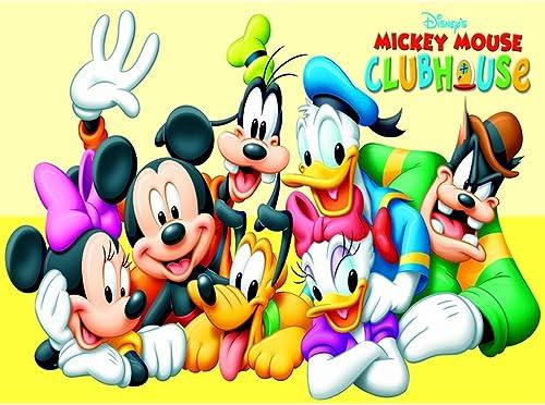 venta caliente Puzzle WYF Niños, Rompecabezas de Mickey Mouse, Mouse, Mouse, Pintura en Mosaico, Corte 500 1000 1500 Piezas, Juegos de Juguetes en Caja para Adultos, Niños P616 (Color   A, Talla   1500pc)  diseñador en linea