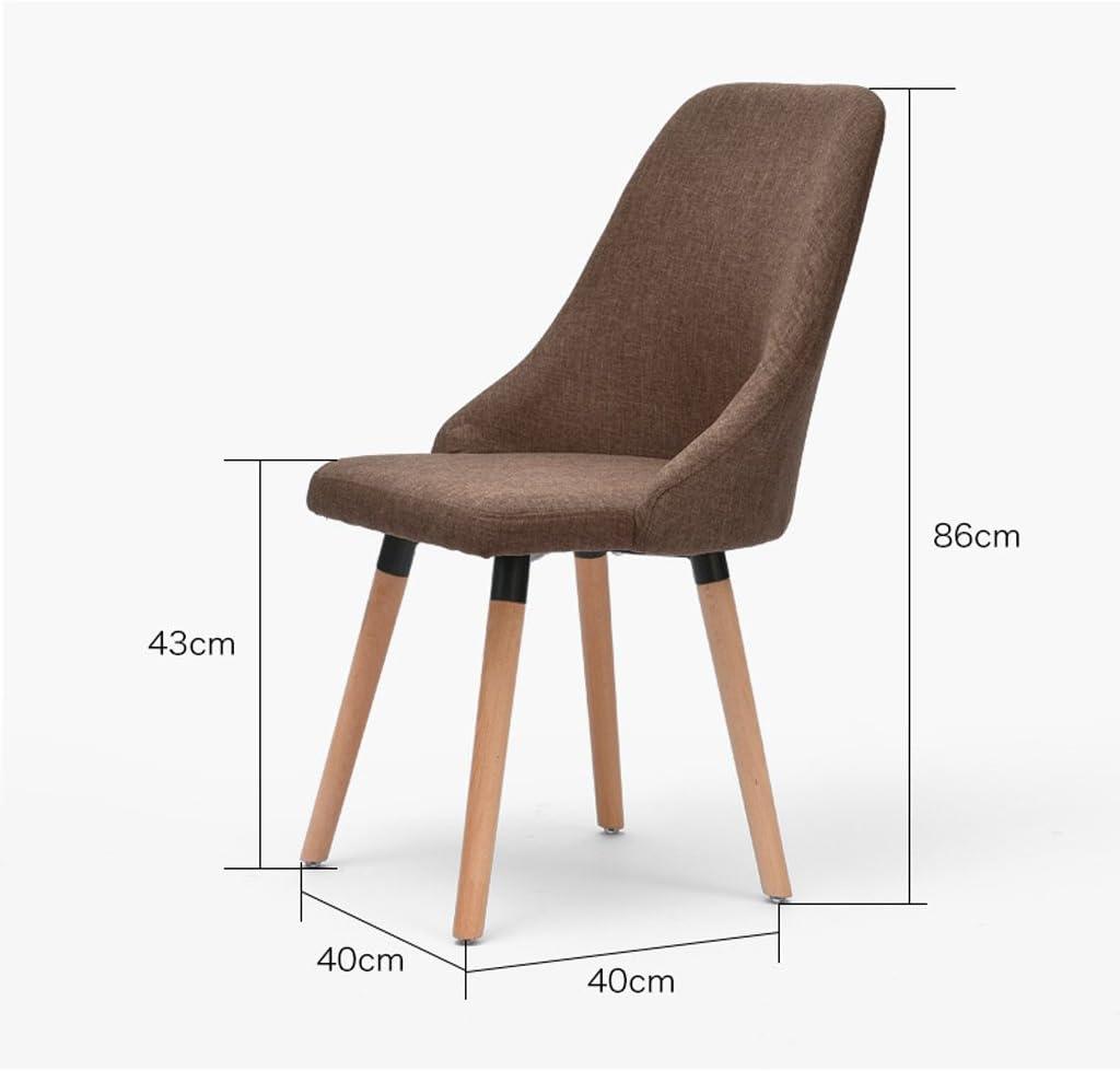 HXF- Chaise de Bureau Simple créative en Bois à Manger Chaise Durable (Color : B) C