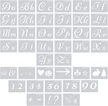 Letter Stencils for Painting on Wood or Glass, 8.27