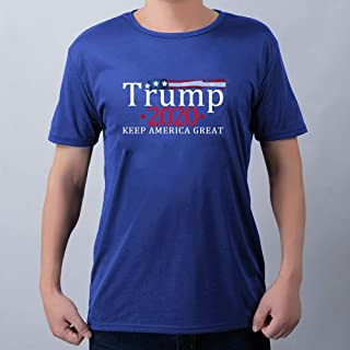 Tickas Short Sleeves,Unisex Summer Print T-Shirt Trump 2020 KEEP AMERICA GREAT O Neck Short Sleeve Soft Breathable Casual Top