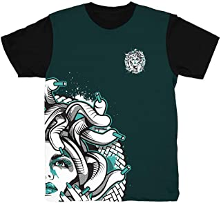Easter 11 Half Face Medusa Emerald T-Shirt to Match Jordan 11 Low Easter Sneakers
