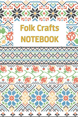 """Compare Textbook Prices for folkcraft Notebook: Lined Notebook with Folk Patterns on the Cover as a Gift, Diary, School Notebook, for College or Recipe Book and more: Size : 6""""x9"""" 