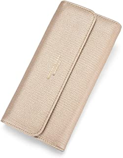 RFID Wallet for Women PU Matte Leather Card Phone Coin Holder Organizer