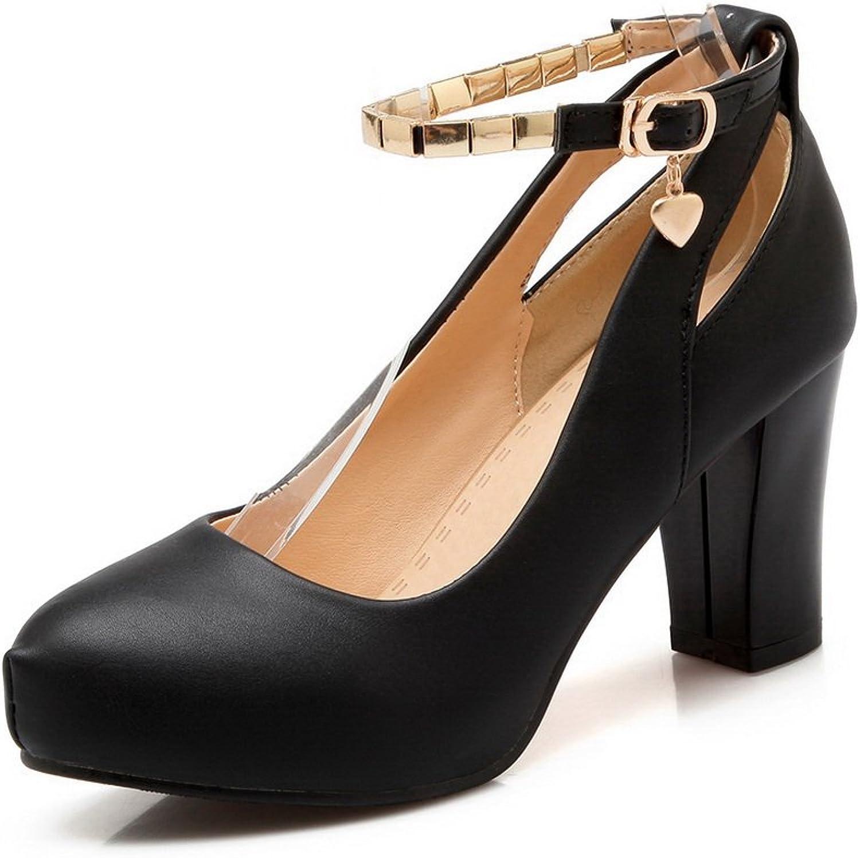 1TO9 Girls Metal Snap Buckle High-Heels Black Dress Pumps-shoes 7.5 M US