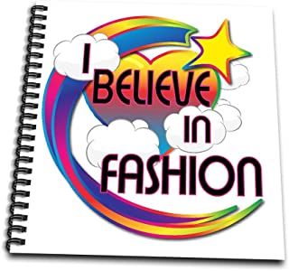 3dRose db_166481_1 I Believe in Fashion Cute Believer Design-Drawing Book, 8 by 8-Inch