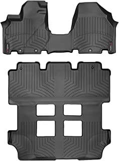 WeatherTech Custom Fit FloorLiner for Honda Odyssey - 1st Row Over The Hump, 2nd, 3rd Row (Black)