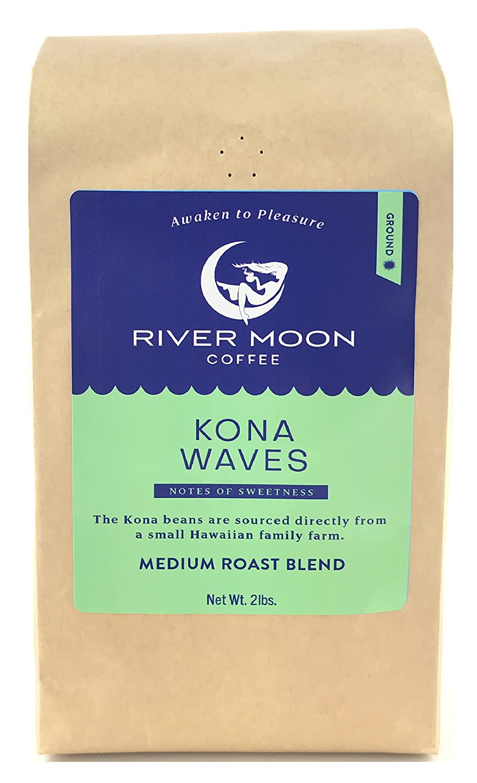 River Moon Coffee Kona Ground Roast 送料無料 Medium Lbs. Haw 2 数量限定アウトレット最安価格