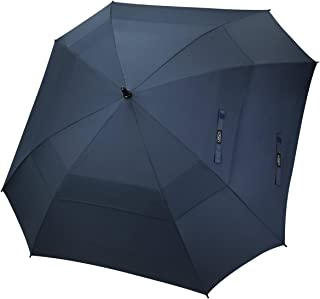 G4Free Extra Large Golf Umbrella Double Canopy Vented Square Umbrella Windproof Automatic Open 62 Inch Oversize Stick Umbr...