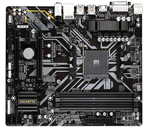 GIGABYTE Technology PB AMD SAM4 B450M DS3H V2 4DDR4 PCIE M2 4SATA3 DVI-D HDMI MATX
