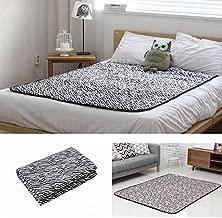 Hanil Electric Blanket Bed Pad Microfiber Heating Mattress Zebra Black (Large)