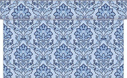 Vlag HORECA tafelloper Cleve in blauw van Linclass® Airlaid 40 cm x 24 m, 1 stuk