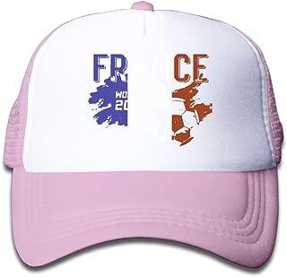 Elephant AN France Soccer Jersey 2018 World Cup Mesh Baseball Cap Kid Boys Girls Adjustable Golf Trucker Hat