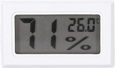 GXT Higrómetro Hygrómetro Digital Termómetro de Pantalla LCD Grande Termómetro Monitor de Humedad para Oficina en casa Dormitorio de Invernadero (Color : White)