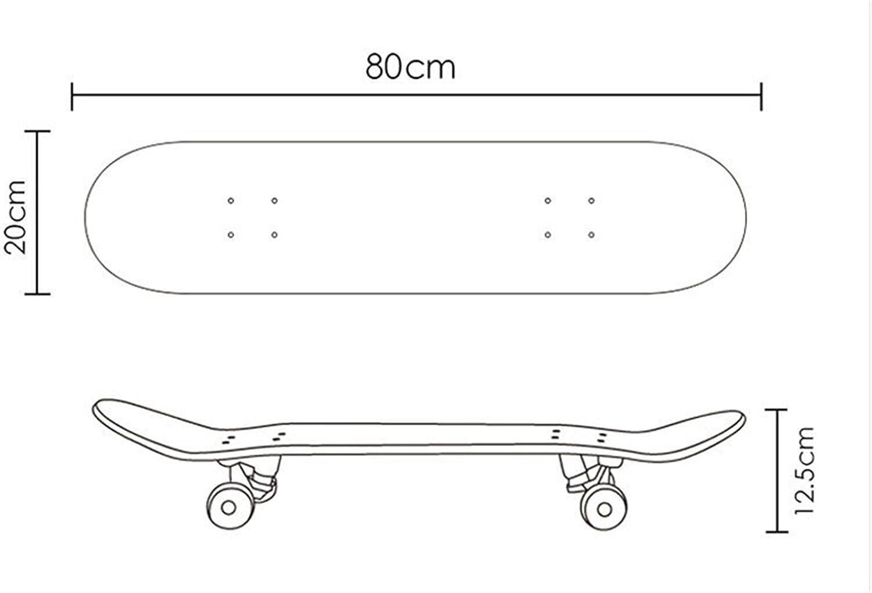 LaoSong Skateboards de Demon Slayer Skateboards 31 Pouces 17 Pouces 23 Pouces Skateboard for Adulte et Enfants avec Roues PU /élastiques /élev/ées et roulements /à Grande Vitesse DR2021-9410427