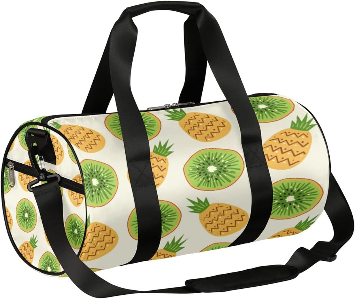 Sport Gym Phoenix Mall Bag Cute Fruit Kiwi Super sale period limited Pineapple Duffel lightwe Small
