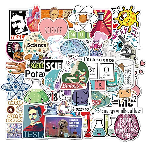 ZXXC 50Pcs Mixed Science Chemistry Mathematics Stickers Guitar Suitcase Freezer Laptop Motorcycle Graffiti Diy Joke Sticker Decals