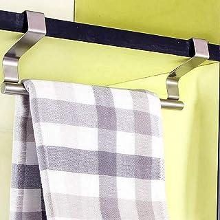 Towel Rack Towel Bar Door Tea Towel Rack Bar Hanging Holder Rail Organizer Bathroom Cabinet Drawer Cupboard Hanger Kitchen...