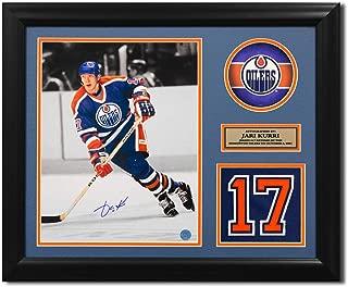 Jari Kurri Edmonton Oilers Autographed Autograph Retired Jersey Number 23x19 Frame - Certificate of Authenticity Included