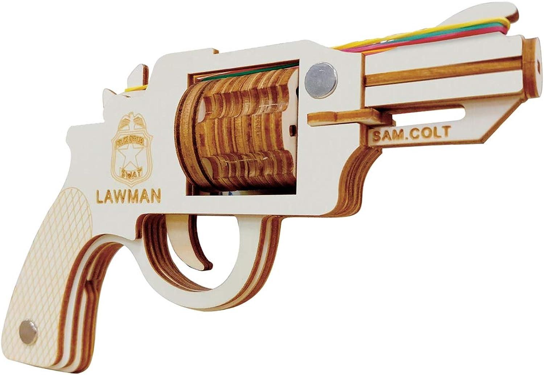 3D Puzzle DIY Wooden Puzzle Educational Toy Colt Law Enforcer Pistol