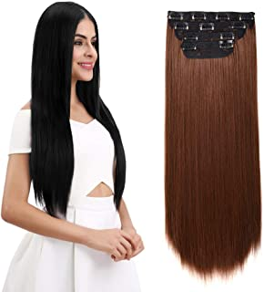 Best 24 in hair extensions clip on Reviews