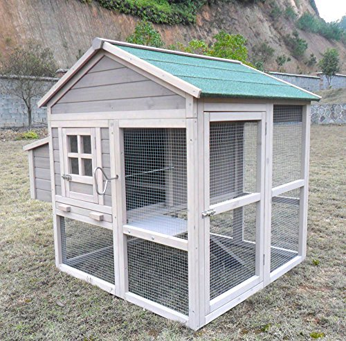 """Hühnerstall Hühnerhaus Chickenhouse Nr. 04 """"Pickerparadies"""" mit Eierbox und Freilauf"""