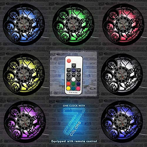 GODYS Wall clock made of vinyl vintage design modern design photography wall clock hanging table decoration gift for the photographer Seven colors 12 inches