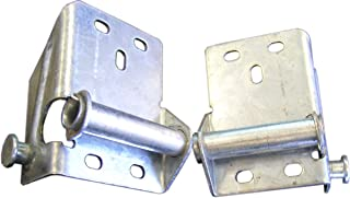 Ideal Security Inc. SK7130 Bottom Brackets for Sectional Garage Doors Includes Both Right and Left, 2-Pack, Galvanized