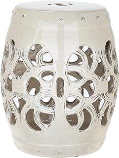 Best Safavieh Imperial Vine Ceramic Decorative Garden Stool, Cream Review