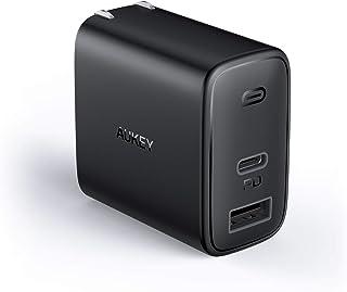 PD 充電器 AUKEY Type C 急速充電器 32W USB-A + USB-C 最小・最軽量クラス 折畳式 /2ポート/ PD3.0対応/折りたたみ式/ iPhone 12 / 12 Pro / 12Pro Max/iPhone 12M...