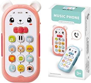 Baby Cell Phone Toy with Lights & Music, Sing & Count Musical Phone Toy, Toys for 6-9 6-12 12-24 Months Early Learning Edu...