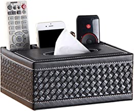 Baskets & Bins Multifunctional Tissue Box Household Leather Remote Control Storage Box Leather Material Black Tissue Box (...