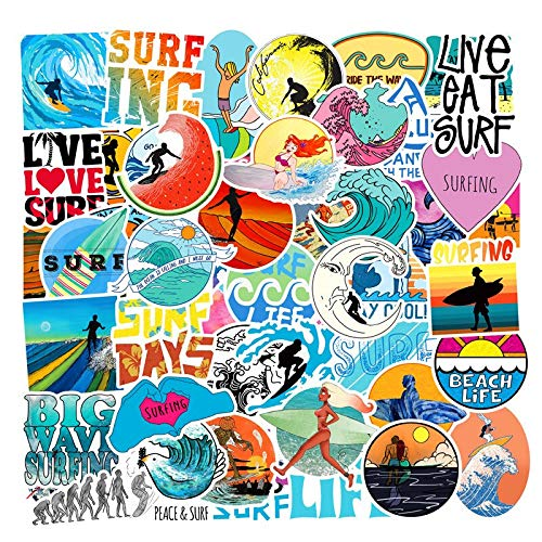 Summer Beach Stickers Scrapbooking Surfing Sticker voor laptop Skateboard koelkast Travel Sticker Packs Kinder 50 stuks