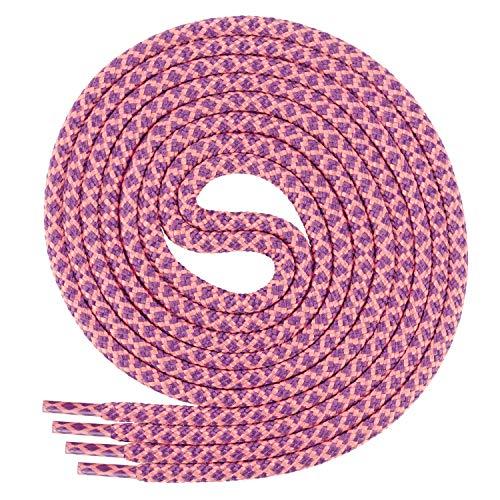 Di Ficchiano runde SCHNÜRSENKEL für Arbeitsschuhe und Trekkingschuhe - sehr reißfest - ø ca. 4,5 mm, Polyester - SP-01.1-peach/purple-150